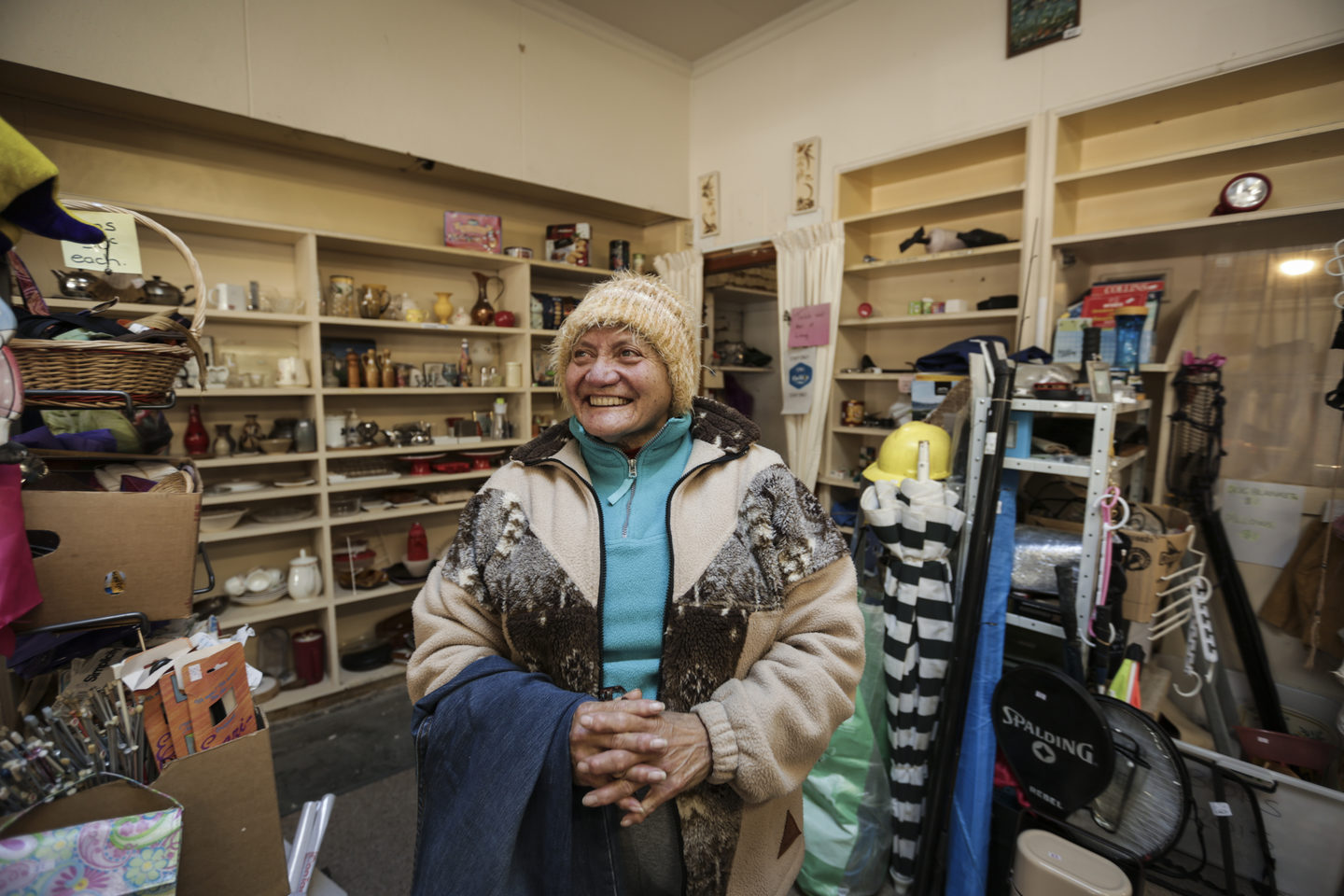 Mary Noa used to work at Mataura's meat works, which partially closed in 2012, but now volunteers at the local op shop