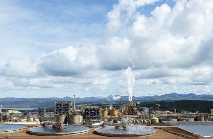 A photo taken on May 27, 2015 shows Brazilian Vale's nickel processing plant of Goro in southern New Caledonia.