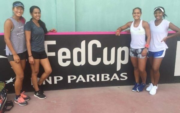 The Pacific Oceania Fed Cup team in Tajikistan.