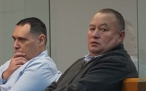 Clint Helmbright, left, and Lewis Padden in the High Court in Wellington.