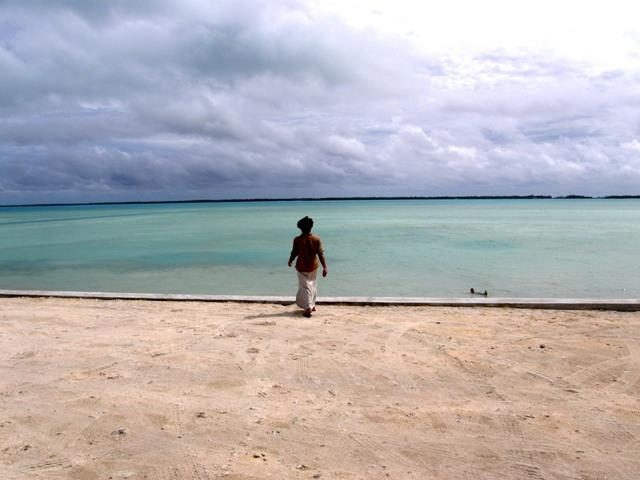 Kiribati - figure at shoreline