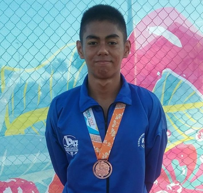 Fiji swimmer Taichi Vakasama won bronze in the Boy's 200m Breaststroke Final at the Commonwealth Youth Games in the Bahamas.