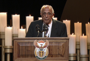 Ahmed Kathrada, anti-apartheid activist and close friend of the former president.