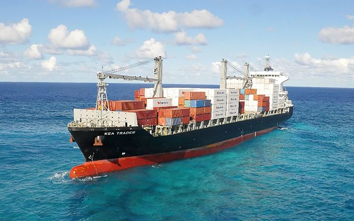 ship stranded on new caledonia reef to be scrapped rnz news