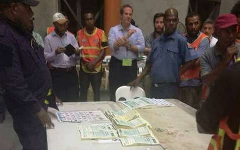 Scrutineers discovering what they described as suspicious looking ballot papers in Papua New Guinea's National Capital District.