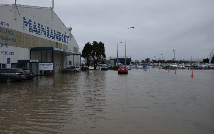 Flooding at Dunedin Airport.