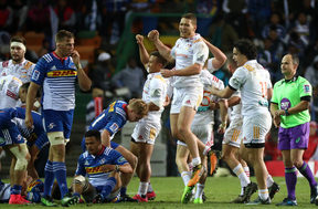 The Chiefs celebrate victory over Stormers