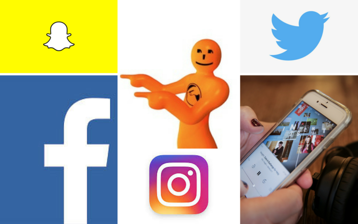 Montage of Social media icons