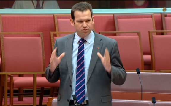 Matthew Canavan speaks in the Australian Parliament.