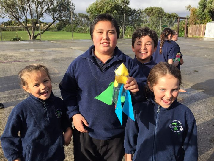 Leiah year 1, Wiremu year 6, Levi year 5, Maddison year 3, Te One school