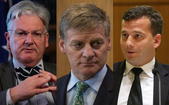 Peter Dunne, Bill English, David Seymour