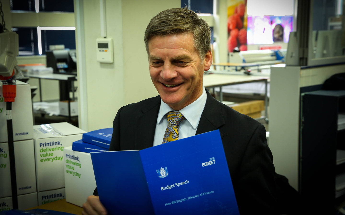 Bill English on Budget Day, 2016