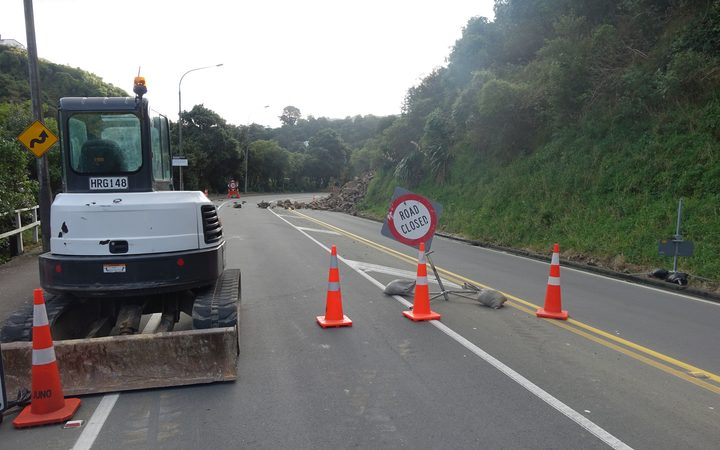 Ngaio Gorge likely to be closed for several days following big landslip