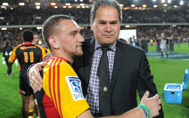 'Father and Son' - Dave Rennie (right) and Aaron Cruden
