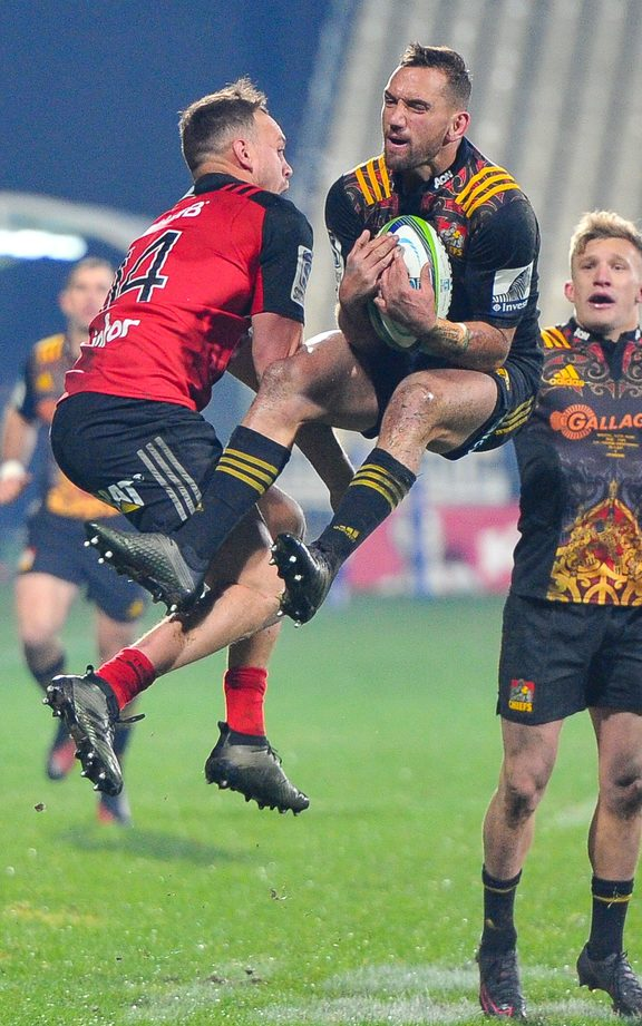 Aaron Cruden in action in his final match for the Chiefs.