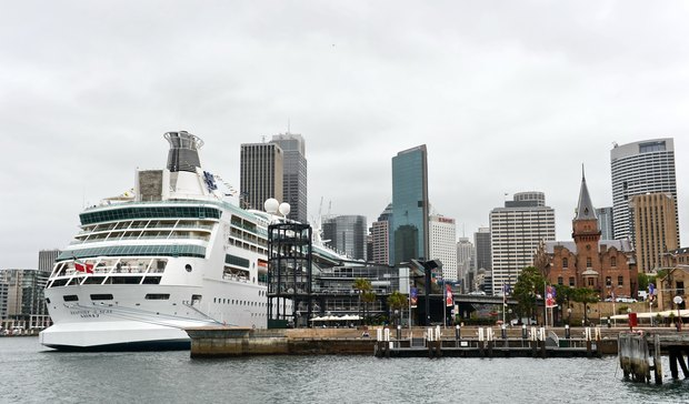 Rhapsody of the Seas docked at Sydney harbour in 2012.