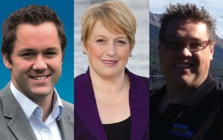 The new Clutha-Southland candidates: (from left) Hamish Walker, Vanessa van Uden and Nick Perham.