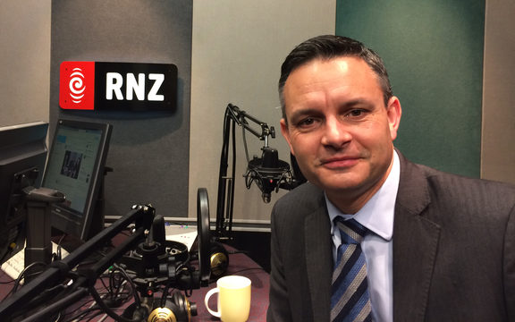 Green Party co-leader James Shaw in RNZ's Auckland studio.