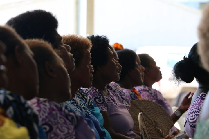 Solomon Islands women at church