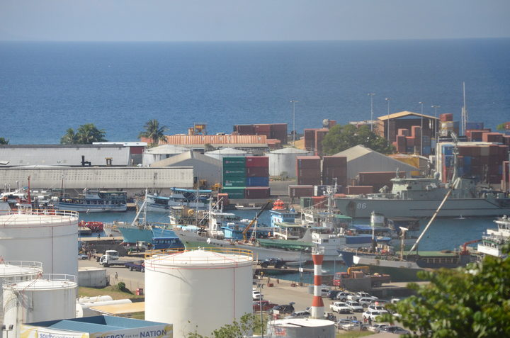 The bustling Port of Honiara nestled in the capital's CBD. 05 November 2013