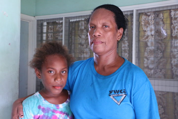 Anthonia Deve and her daughter Janice. Mrs Deve says its the uncertainty more than anything that troubles her about RAMSI's departure.