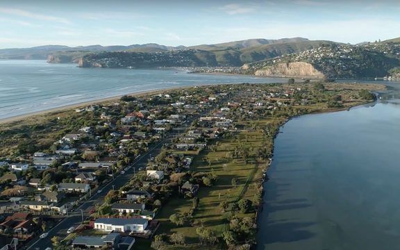 A view of the South New Brighton Peninsula.