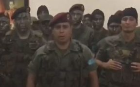 Venezuela army officers posted a video saying they were rising against the tyranny of President  Nicolás Maduro.