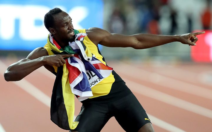 Usain Bolt finished third his final 100m race.