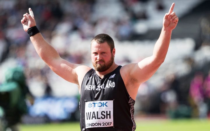 Tom Walsh in qualifying in the World Champs for shot put late last week in London.