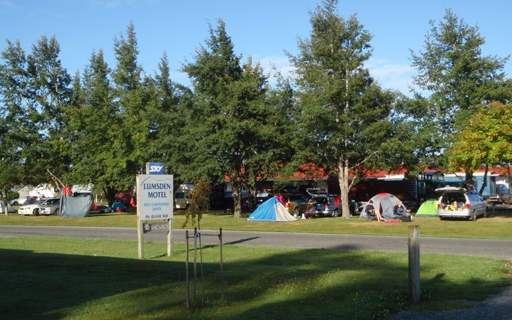 The view from Lumsden Motel. & Blight or boon? Town split on expanding free camping | Radio New ...