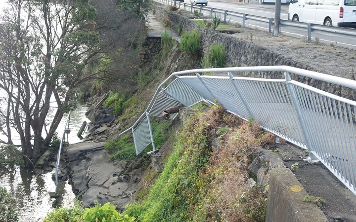 Rains in 2015 brought down a section of the walkway alongside Anzac Parade.