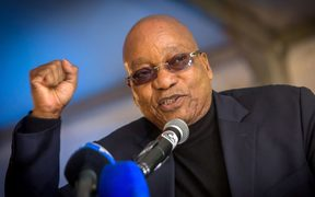 Jacob Zuma (file photo) in May.