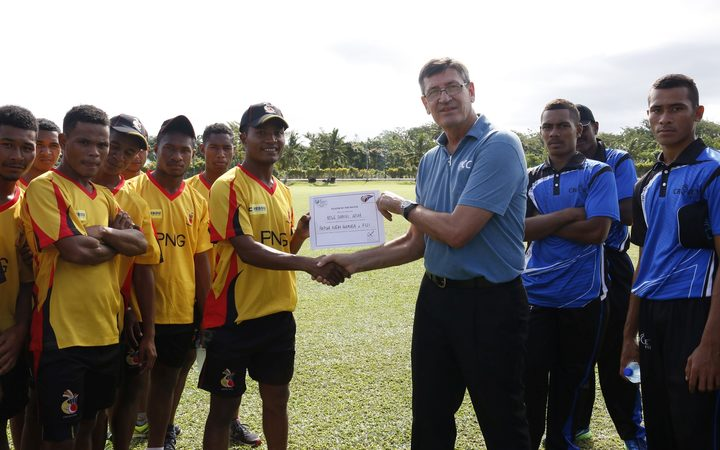 PNG's Boge Daniel Arua was awarded player of the match honours.