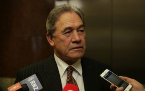 New Zealand First leader Winston Peters in Bowen House.