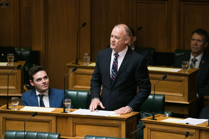 National MP Jono Naylor gives his valedictory statement to the House