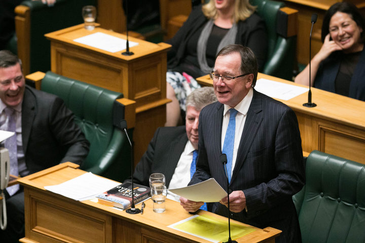 National's Murray McCully gives his valedictory speech to the House.