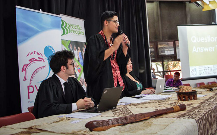 Josiah Tualamali'i at the Pacific Youth Parliament.