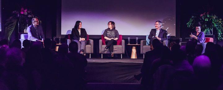 Ali Ikram, Dr Arama Rata, Roseanne Liang, Prof. Paul Spoonley, Noelle McCarthy