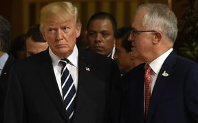 US President Donald Trump and Australian PM Malcolm Turnbull.