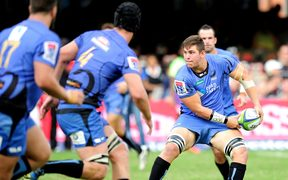 Richard Hardwick in action for the Western Force in a match against the Sharks earlier this year.