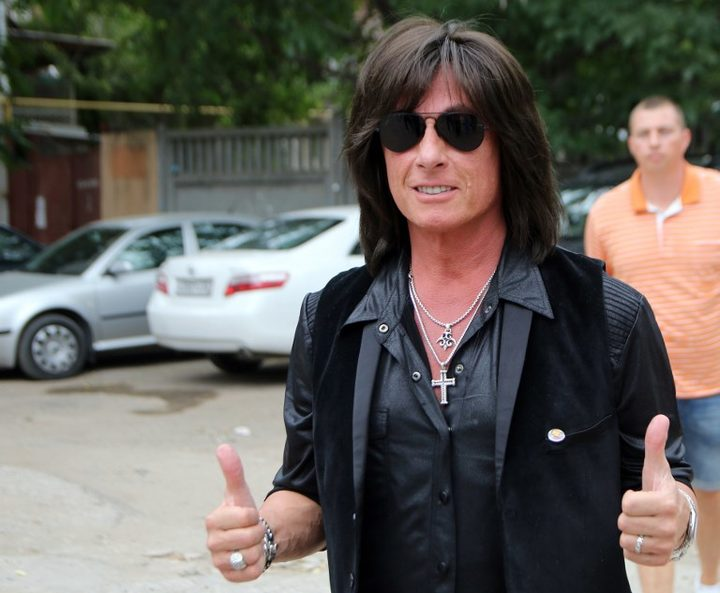 US rock musician Joe Lynn Turner gives a news conference at the Rossiya Segodnya International Media Press Center in Simferopol in 2015.