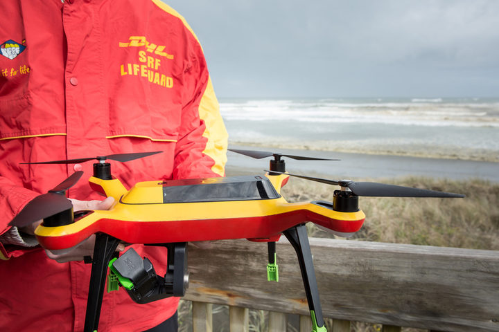 A new initiative for the Muriwai Surf Club who are currently testing drones for surf lifesaving purposes.