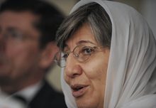Afghanistan Independent Human Rights Commission chair Sima Samar.