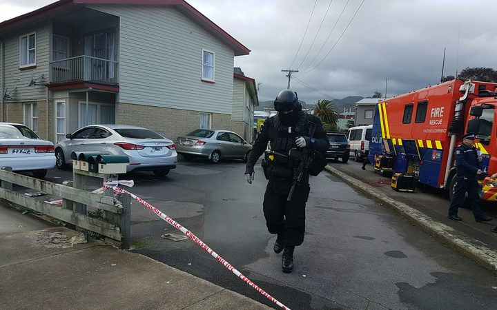 Armed police were called to the house at Kings Crescent, Lower Hutt.