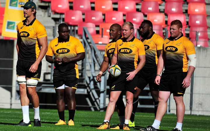 Springboks training in Port Elizabeth