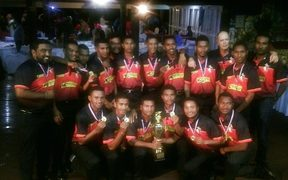 PNG celebrate qualifying for the Under 19 Cricket World Cup.