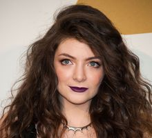 Singer-songwriter Lorde.