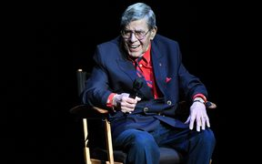 Comedian Jerry Lewis at a charity event in 2016.
