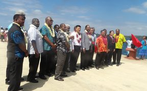 Opening of new wharf in Luganville on Santo.