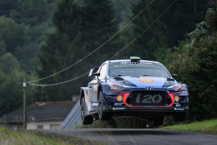 Hayden Paddon in flight in Germany